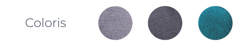 Les coloris de Oslo - canapé d'angle droit convertible - Bleu canard