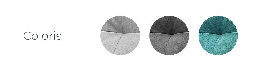 Les coloris du canapé d'angle en tissu convertible avec coffre Bobochic Balio