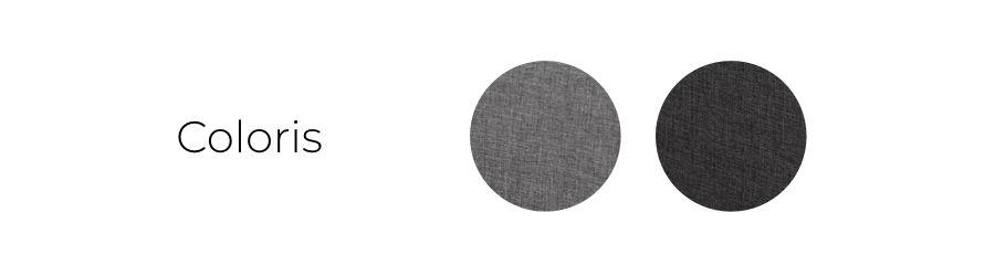 Les coloris du canapé Ivar : gris clair et gris foncé