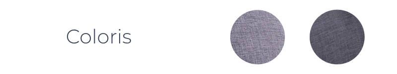 Les coloris gris clair et gris foncé du canapé Oslo panoramique de la marque Bobochic