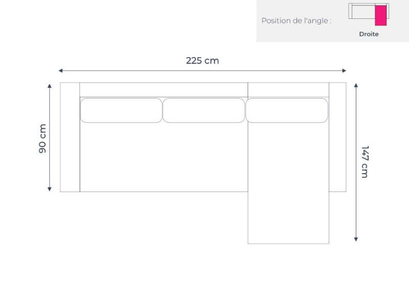 oslo canap d angle droit convertible gris clair au design scandinave. Black Bedroom Furniture Sets. Home Design Ideas