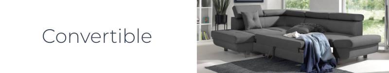 La fonction convertible du canapé d'angle gauche Lisbona