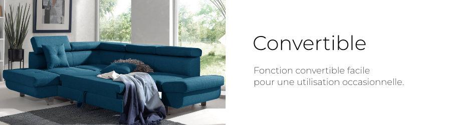 Le canapé d'angle Lisbona est équipé d'une fonction convertible facile à utiliser et pour un usage occasionnel
