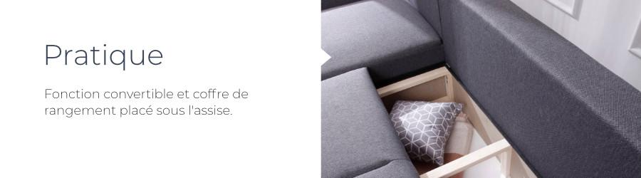 La fonction convertible et les dossiers inclinables sont très pratiques pour faire la sieste ou transformer le canapé Lena en un couchage confortable