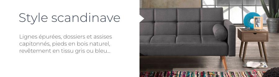 Le design scandinave du canapé d'angle Zara : pieds en bois naturel, revêtement en tissu, lignes épurées, dossiers et assises capitonnées
