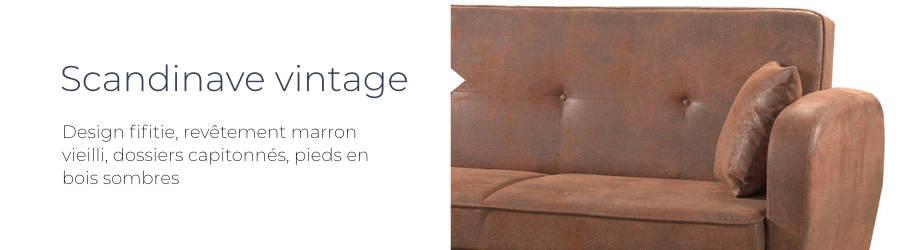 Le design du canapé d'angle réversible convertible Folke Vintage