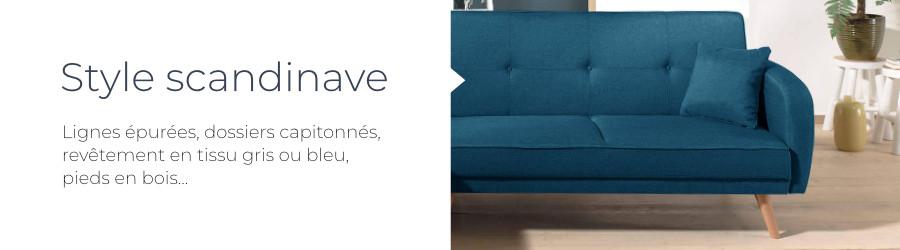 Le canapé Folke de Best Mobilier a un design scandinave