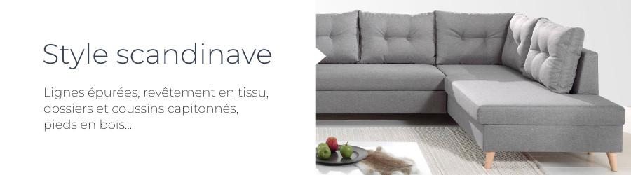 Le design scandinave du canapé d'angle droit Nordic L