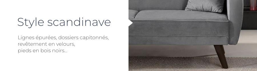 Le canapé d'angle Olaf a un design scandinave