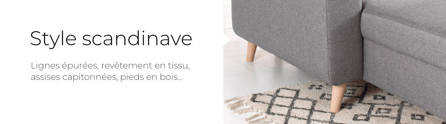 La canapé d'angle 4 places Ivar a un design scandinave
