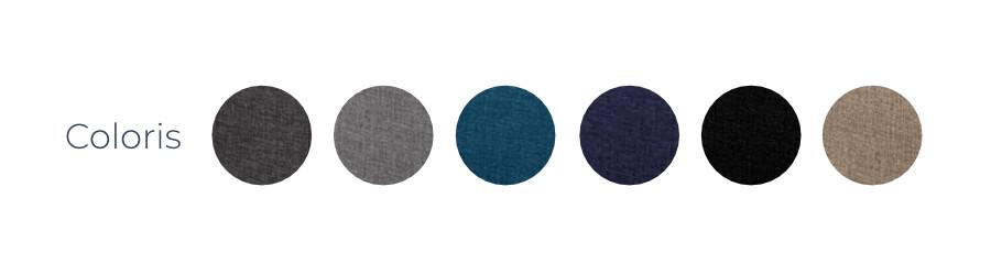 Les coloris du canapé d'angle gauche Nordic L
