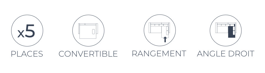 Les fonctions pratiques du canapé d'angle droit Nordic L