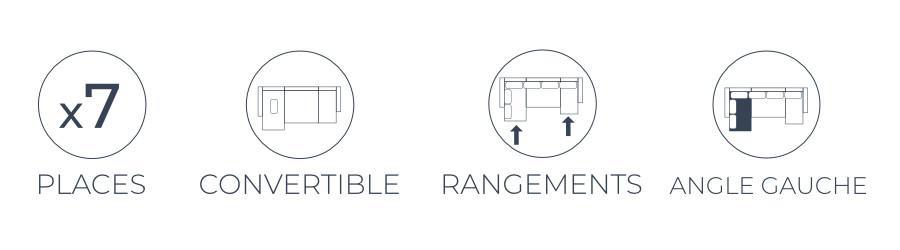 Les fonctions pratiques du canapé panoramique Nordic