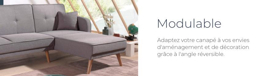 La canapé Folke de Best Mobilier est pratique grâce à son angle réversible