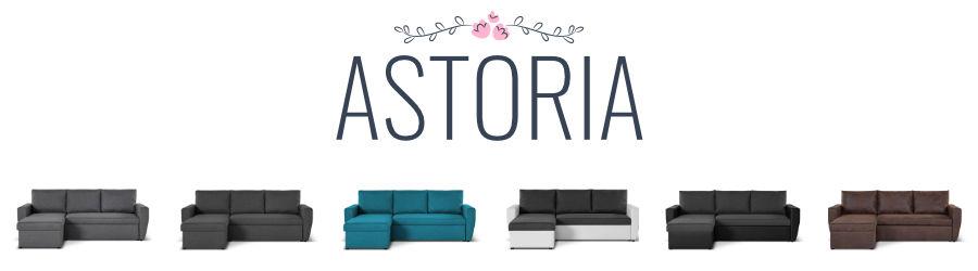 Présentation du canapé d'angle réversible convertible Astoria de Lisa Design