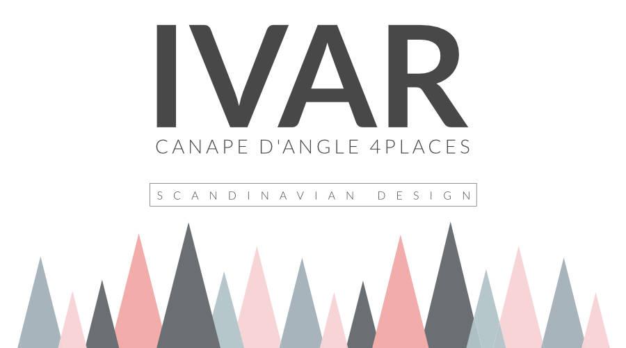 Présentation du canapé d'angle 4 places Ivar